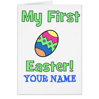 Min första påsk! hälsningskort
