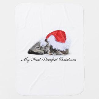 Min första Purrfect jul Bebisfilt