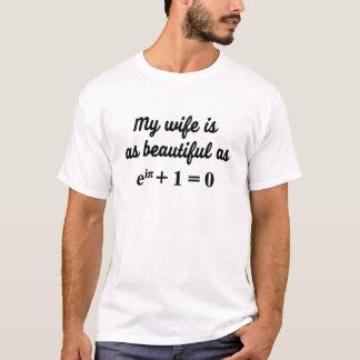 Min fru är så härlig som Eulers identitetstshirten Tee