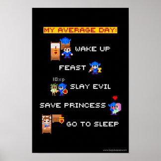 Min genomsnittliga dag (8-bet RPG), Poster