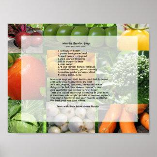 Min grönsakträdgård poster