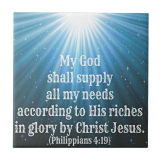 min gud levererar all min needs.jpg kakelplatta
