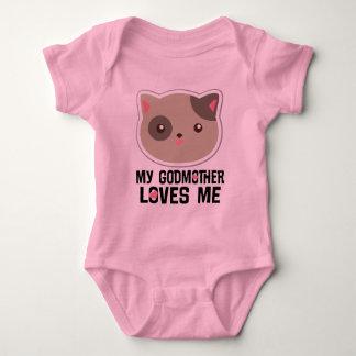 Min gudmor älskar mig kattungeflickaT-tröja T-shirt