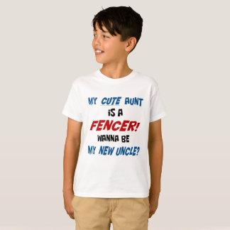 Min gulliga moster är en fäktare! t-shirts