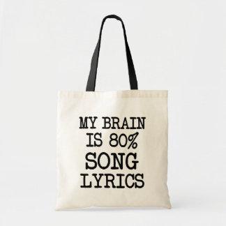 Min hjärna är roliga 80% sånglyrisk dikt hänger tygkasse