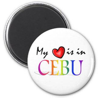 Min hjärta är i CEBU kylskåpmagnet Magnet