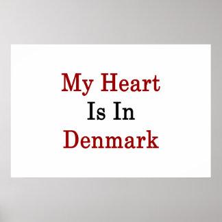 Min hjärta är i Danmark Affisch