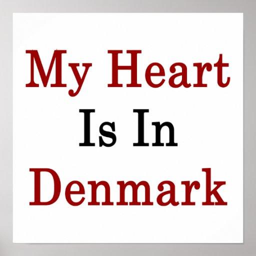 Min hjärta är i Danmark Print