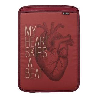 Min hjärta hoppar over en takt sleeve för MacBook air