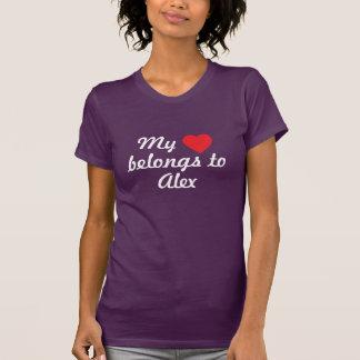 Min hjärta hör hemma till Alex Tshirts