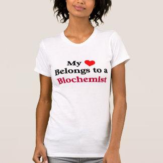 Min hjärta hör hemma till en Biochemist T-shirt