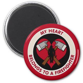 Min hjärta hör hemma till en brandman magnet