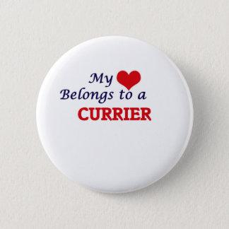 Min hjärta hör hemma till en Currier Standard Knapp Rund 5.7 Cm