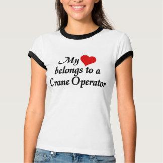 Min hjärta hör hemma till en kranförare tröja
