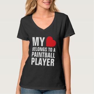 Min hjärta hör hemma till en Paintballspelare Tee