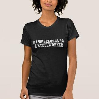 Min hjärta hör hemma till en Steelworker Tee Shirt
