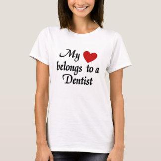 Min hjärta hör hemma till en tandläkare t shirts