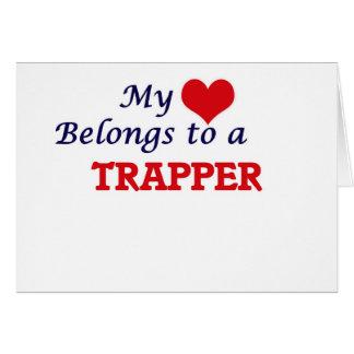 Min hjärta hör hemma till en Trapper Hälsningskort