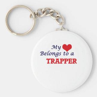 Min hjärta hör hemma till en Trapper Rund Nyckelring