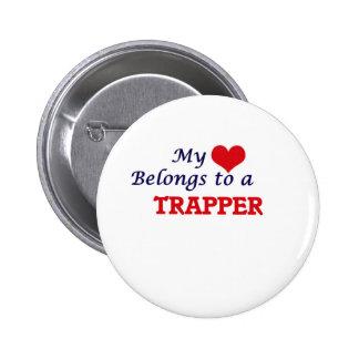 Min hjärta hör hemma till en Trapper Standard Knapp Rund 5.7 Cm
