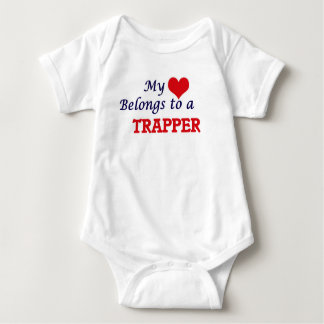 Min hjärta hör hemma till en Trapper Tröjor