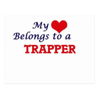 Min hjärta hör hemma till en Trapper Vykort