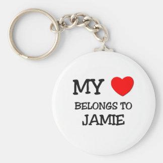 Min hjärta hör hemma till JAMIE Rund Nyckelring