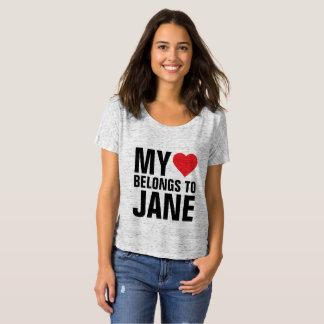 Min hjärta hör hemma till Jane Tee Shirts