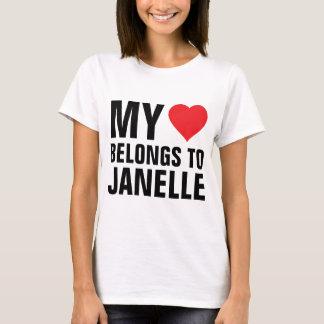 Min hjärta hör hemma till Janelle T-shirt