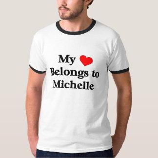 Min hjärta hör hemma till Michelle T Shirt
