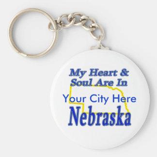 Min hjärta & Soul är i Nebraska Rund Nyckelring