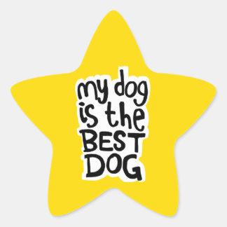 Min hund är de bäst hundklistermärkearna stjärnformat klistermärke