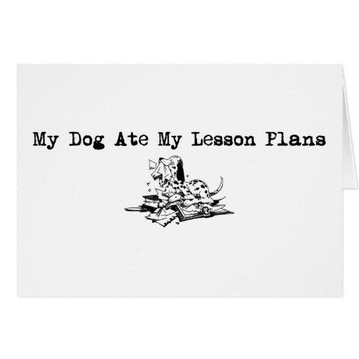 Min hund åt min kurs planerar hälsningskort