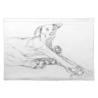 """Min hund sätta en klocka på """"allt ben"""", en skissa bordstablett"""