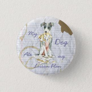 Min italienska vinthund åt min kurs planerar mini knapp rund 3.2 cm