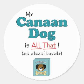 Min Kanaan hund är all det! Runt Klistermärke