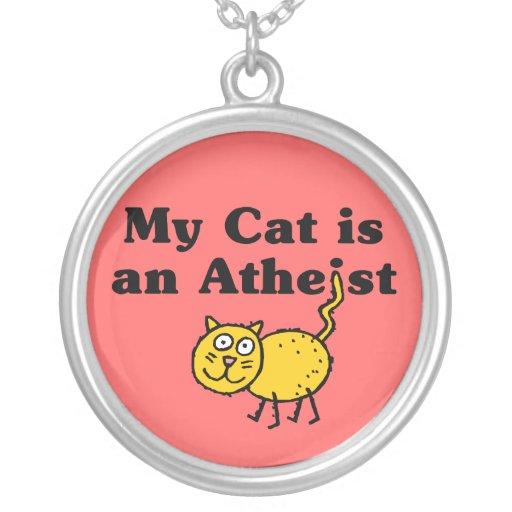 Min katt är en ateist hängsmycke