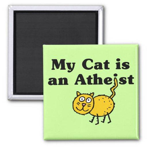 Min katt är en ateist magnet för kylskåp