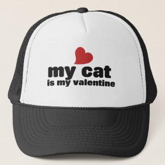 Min katt är min valentin truckerkeps