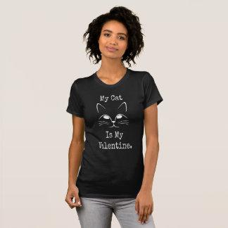 Min katt är min valentin - valentin svart Tshirt T Shirts