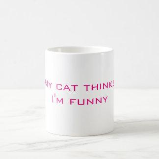 Min kattfunderare mig rolig kaffemugg för