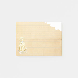 Min Komondor åt min läxa Post-it Block