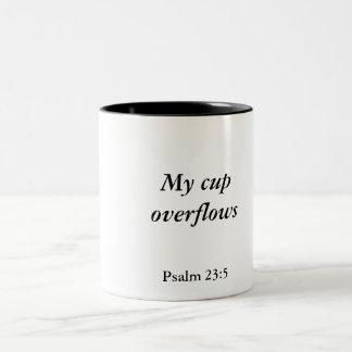 Min koppöverflöd, Psalm23:5 Två-Tonad Mugg
