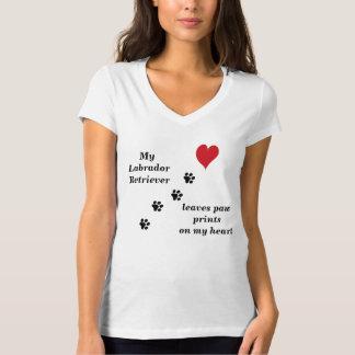 Min Labrador Retriever lämnar tass avtryck Tshirts