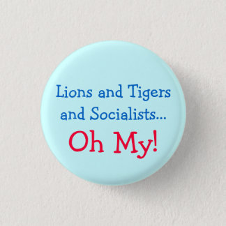 Min lejon och tigrar och socialister Oh! Mini Knapp Rund 3.2 Cm