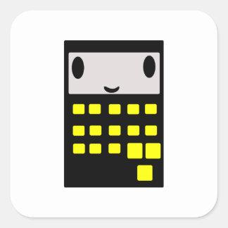 Min lyckliga räknemaskin fyrkantigt klistermärke
