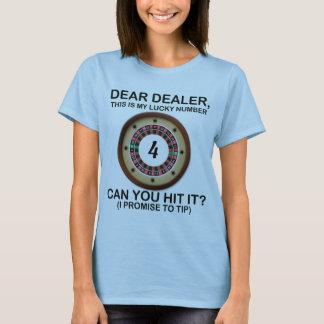 Min lyckliga roulett numrerar t shirt