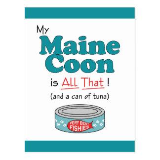 Min Maine Coon är all det! Rolig kattunge Vykort