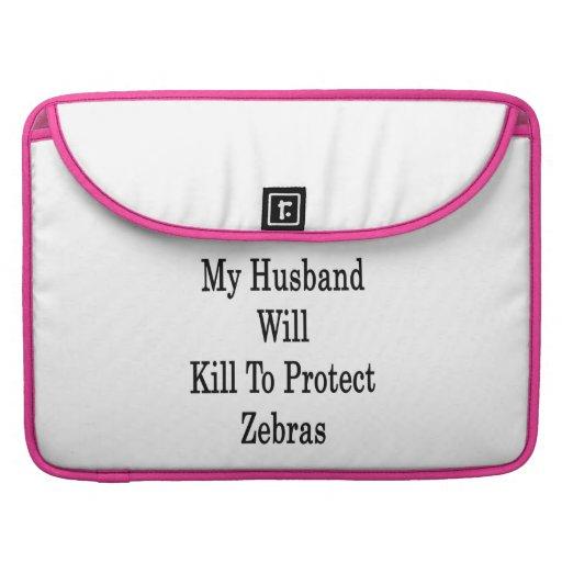 Min make ska döda som skyddar zebror MacBook pro sleeves