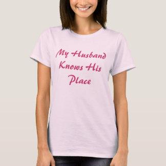 Min make vet hans ställekvinna t-skjortan för t shirts